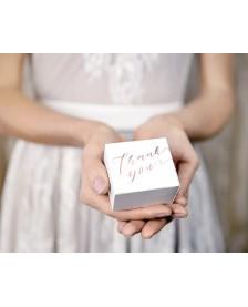 Krabička biela s nápisom Thank you, 6x3,5x5,5cm