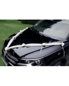 Výzdoba na svadobné auto,farba smotanová, 1,8 m