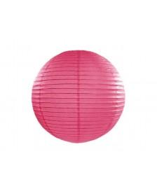 Papierový lampión, tmavo ružová farba, 20 cm