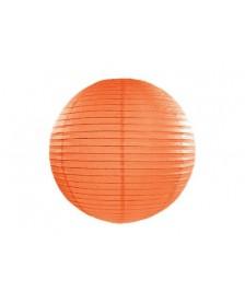 Papierový lampión , oranžová farba, 20 cm