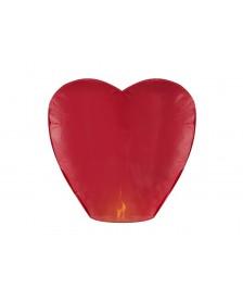 Srdcový lampión, červená farba, 33 x 83 x 90 cm