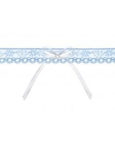 Čipkovaný podväzok modrý