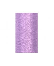 Trblietavý tyl, farba levanduľa, 0,15 x 9 m