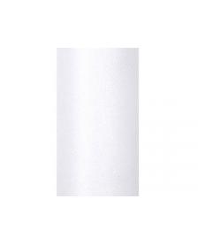 Trblietavý tyl, biely, 0,15 x 9 m