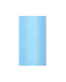 Trblietavý tyl, modrý, 0,15 x 9 m