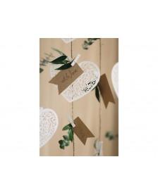 Drevené štipčeky, biele