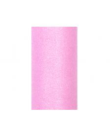 Trblietavý tyl, ružový, 0,15 x 9 m