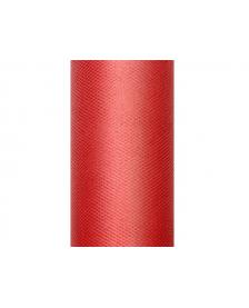 Tyl, hladký, červený, 0,15 x 9 m