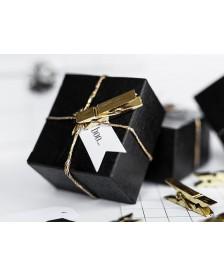 Štipčeky z kovového zlata