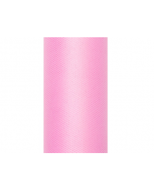 Hladký tyl, ružový, 0,15 x 9 m