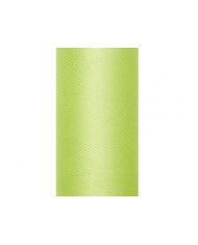 Hladký tyl, zelený, 0,15 x 9 m