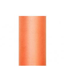 Tyl hladký, oranžový, 0,30 x 9 m
