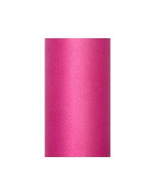 Tyl, hladký, ružový, 0,15 x 9 m