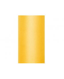 Tyl, hladký, žltý, 0,15 x 9 m