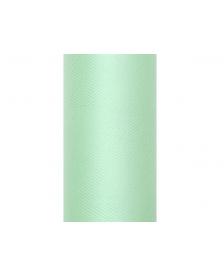 Hladký tyl,farba mäta, 0,15 x 9 m