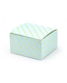 Krabička modrá s pruhmi, 6 x 3,5 x 5,5 cm