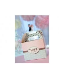 Krabička s nápisom Ďakujeme – Thank you